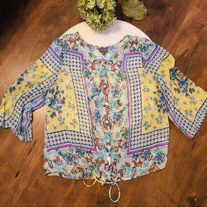 Roz&Ali size 1X beautiful sheer blouse!
